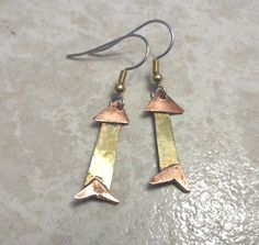 Handmade Little Fish Earrings Made With Recycled by InnerCrows, $22.00