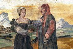 Francesco Petrarca & Laura - afresco
