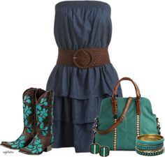 """Country Chic Contest #1"" by angkclaxton ❤ liked on Polyvore"
