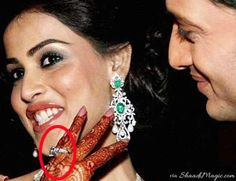Genelia and Riteish were recently blessed with a boy child. Before her wedding in 2012, Genelia was seen many times wearing a huge diamond engagement ring.