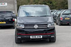 VW T6 TRANSPORTER RACELINE GT IN DEEP BLACK PEARL METALLIC WITH RED ACCENTS