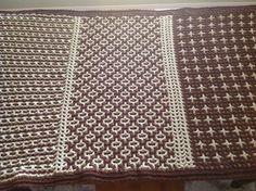 "Interlocking Crochet Afghan  Three selected stitch patterns from the book ""Interlocking Crochet"" by Tanis Galik"
