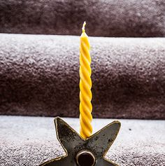 Spiral Taper Beeswax Candle: Twisted, Simple, Elegant, Stylish - Everyday Home Decor  - Perfect Gift | www.WarmCandle.com