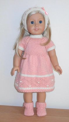 Hot Pink Knit Hooded Jacket made for 18 inch American Girl Doll Clothes