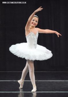 White / Silver Classical Ballet Tutu hand made by Monica Newell  UK