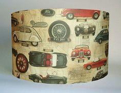 Vintage Cars Lampshade
