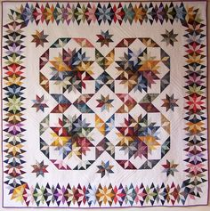 Capistrano quilt made by Susan Lee from Judy Martin's pattern in her book, Stellar Quilts.