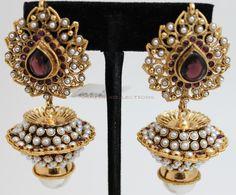 Gold jhumki earring