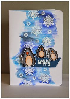 Karte, Card, Create a Smile Stamps, Pinguine, Winter, Weihnachten, Christmas