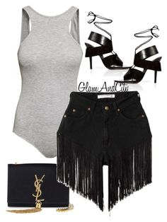 Untitled #106 by glamandcity on Polyvore featuring polyvore, fashion, style, H&M, Alexander Wang, Yves Saint Laurent, women's clothing, women's fashion, women, female, woman, misses and juniors