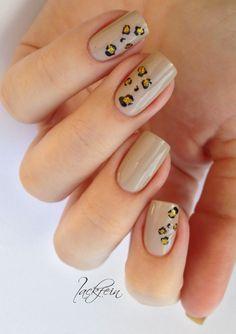 nail design - Essie Sand Tropez & Water Decals