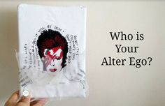 David Bowie free motion embroidery art work