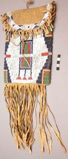 Sioux beaded bag, 19th century.