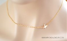 A Delicate Gold Necklace. Simple yet Elegant. Perfect as a simple everyday necklace or as a layering piece. ♥ A beautiful bird silhouette is suspen...