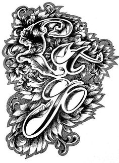 Let go - original typographic illustration by Emma Linnea Davis