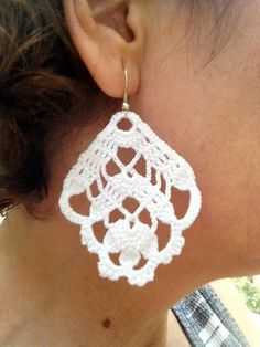 PDF Tutorial Crochet Pattern...Dangle Earrings 6