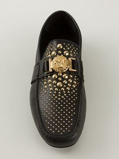 Versace Studded Car Shoes - Zoo Fashions - Farfetch.com