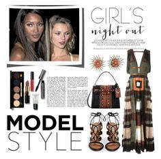 """Girl's Night Out"" by conch-lady ❤ liked on Polyvore featuring Valentino, Naomi Campbell, Bobbi Brown Cosmetics and girlsnightout"