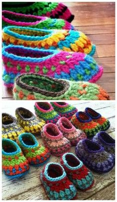 Crochet For Babies crochet galilee booties. Baby to adult sizes. - These Crochet Galilee Booties have been so popular. We've found a video tutorial so you can learn how to make your own at home. Crochet Baby Boots, Crochet Shoes, Crochet Slippers, Crochet Yarn, Crochet Slipper Pattern, Crochet Patterns, Afghan Patterns, Amigurumi Patterns, Crochet Baby Blanket Beginner