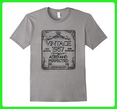 Mens Vintage 1957 Aged and Perfected T-Shirt 60th Birthday Tee XL Slate - Birthday shirts (*Amazon Partner-Link)