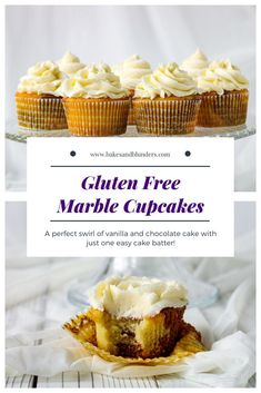 Want to know how to make moist, gluten free marble cupcakes?  Check out this easy recipe from Bakes Marble Cake Recipes, Best Dessert Recipes, Cupcake Recipes, Fun Desserts, Baking Recipes, Cookie Recipes, Free Recipes, Marble Cupcakes, Baking Cupcakes