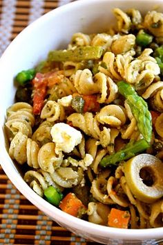 Mediterranean pesto pasta salad perfect for summer picnics