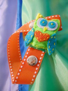 Pacifier Clip in Bright Colors for baby girls by PauPari on Etsy, $6.50