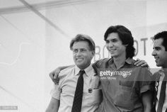 Photo d'actualité : Actor Martin Sheen with Lou Diamond Phillips at...