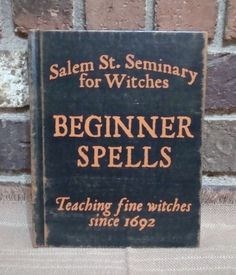 Primitive Style Halloween Blank Witch Journal Lined Pages BEGINNER SPELLS Hp