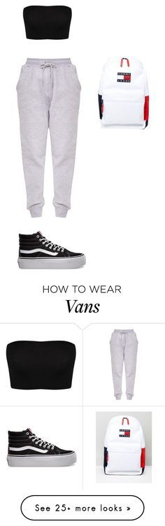 """""""Chill Däi"""" by lolitsbrit on Polyvore featuring Vans and Tommy Hilfiger"""