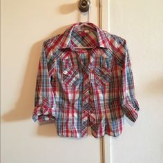 Plaid shirt Plaid shirt - no stains, holes, etc. great condition. Divided Tops Button Down Shirts