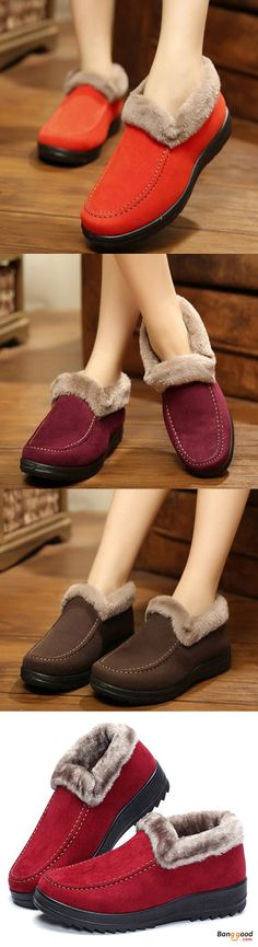 US$20.99 + Free shipping. Suede Wool Lining Slip On Ankle Short Snow Boots. Heel Height: 2-3cm. Color: Black, Red, Coffee, Yellow. Women's shoes, women's boots,winter shoes boots, winter outfits. Buy now!