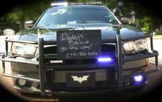 Police baby announcement, how cute!!