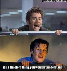 Time Lords just like to pop up over stuff. Just accept it and move on.