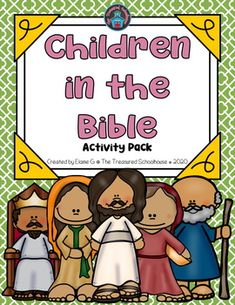 Are you looking for a way to tie or relate kids to other children in the Bible? If so, this is for you! This activity pack has a variety of no prep materials that are perfect for any day, yet they relate to the Bible. There are several of the most known children from the Bible used in this resource ...