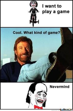 Chuck Norris - SAW - I want to play a game...