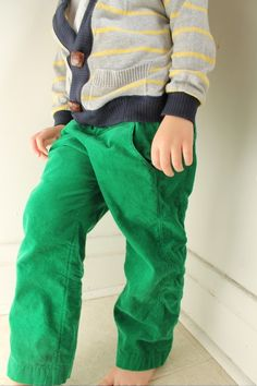 green boys pants - Pi Pants