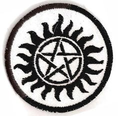 Supernatural, Sam and Dean's Tattoo Patch Supernatural Merchandise, Supernatural Bloopers, Supernatural Tumblr, Supernatural Tattoo, Supernatural Imagines, Supernatural Wallpaper, Band Patches, Pin And Patches, Sam And Dean Tattoo