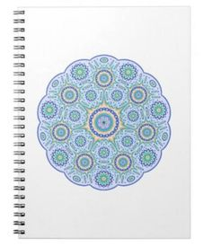 Mandala ornament spiral notebook $14.35