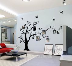 Cheap mural photo, Buy Quality frames travel directly from China frame backs Suppliers: Free Shipping Huge Large Black Wall Decal Sticker Decor Removable Photo Frame Tree Family Quote Branches 200*250cm Home