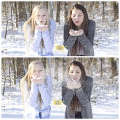 Best friends photoshoot in the snow ©Coldren Photography 2014
