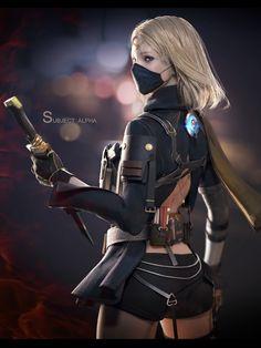 From the album Fantasy Girl, Fantasy Female Warrior, Fantasy Art Women, Cyberpunk Girl, Arte Cyberpunk, Female Character Design, Character Art, Fantasy Characters, Female Characters