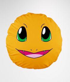 Pokemon Inspired Kawaii Charmander Pillow - $24.99 http://thecustomshoppe.storenvy.com/products/2193264-pokemon-inspired-kawaii-charmander-pillow