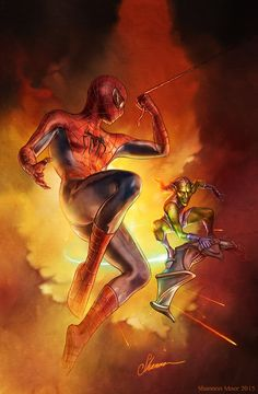 Spider-Man vs. Green Goblin by Shannon Maer *___©__!!!!