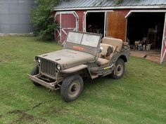 This is somewhat rare, a 1943 World War II military jeep.