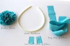 frayed flower and headband how-to - girl. Inspired.