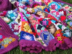 Crochet gypsy granny square blanket by betsymakes