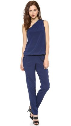 Ramy Brook Lulu One Shoulder Jumpsuit   selected by jamesdrygoods.com for the made in america: contemporary project   #madeinusa  