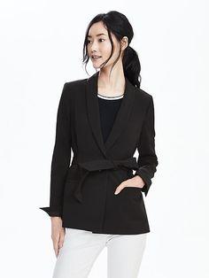 Belted Shawl-Collar Blazer | Banana Republic