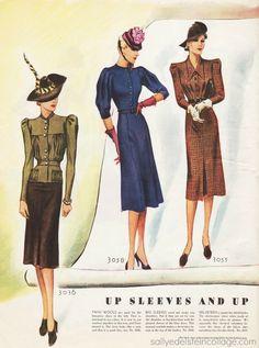 Vintage women's fashion 1939                                                                                                                                                                                 More